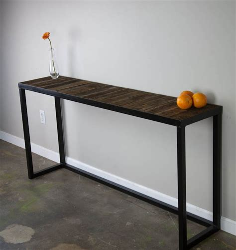 metal console table wood and metal console table great tables