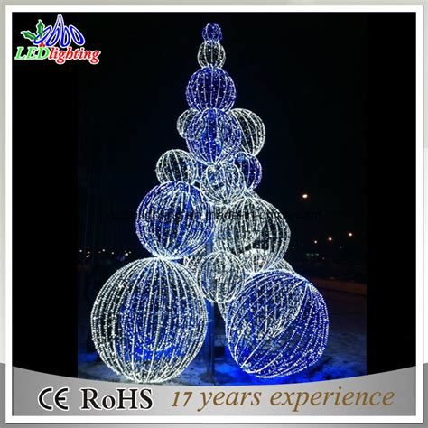 outdoor lighted tree balls china large 3d outdoor metal lighted