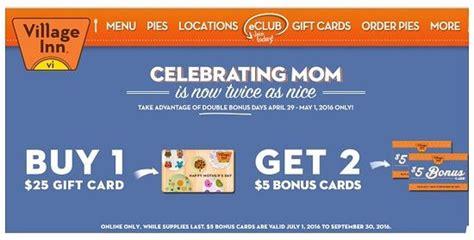 Village Inn Gift Card - mother s day freebies restaurant deals