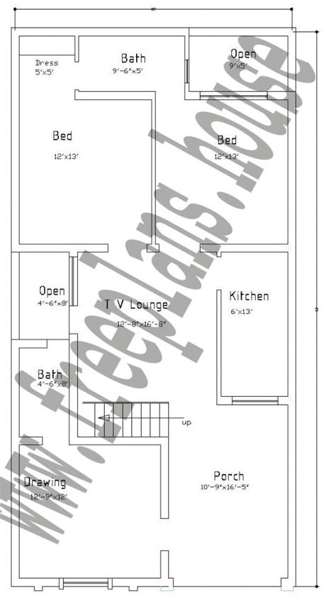 25x50 house plan 25 215 50 feet 116 square meters house plan