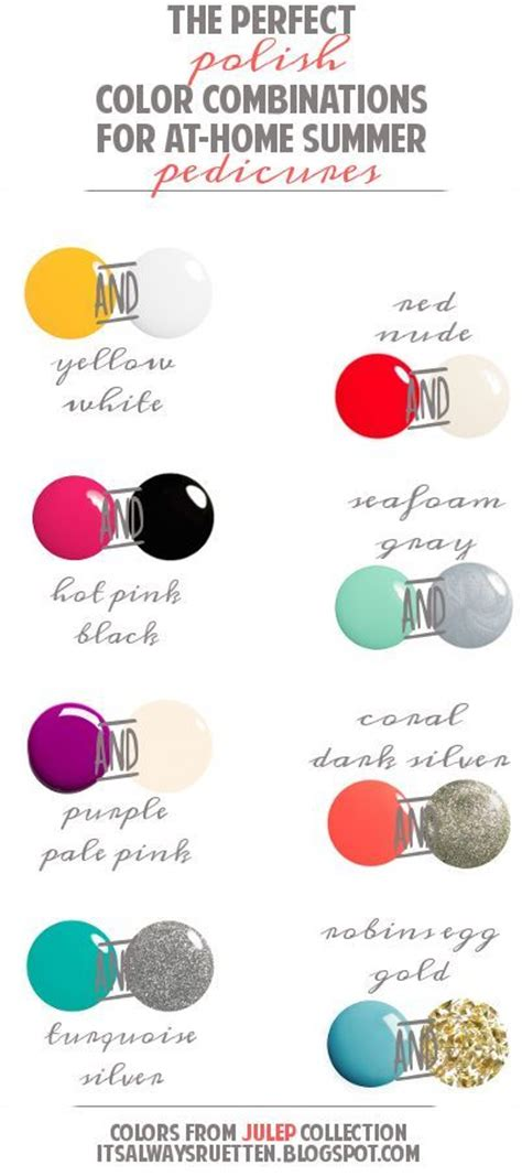 perfect color combinations summer pedicures summer pedicure colors and pedicure