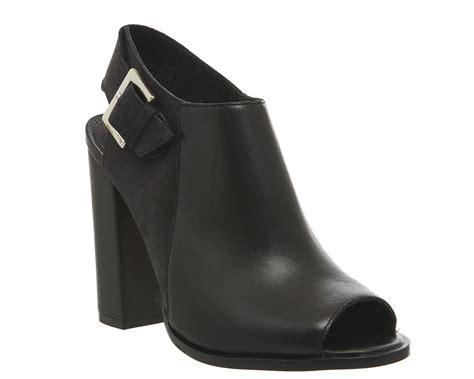 Black Master Boots Laskar Size 39 44 office total peep toe shoe boots black leather high heels