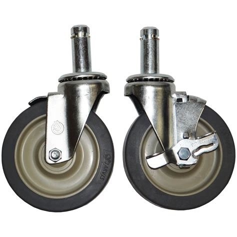 table casters with brakes advance tabco ta 255 swivel stem casters 5 quot 4 set 2 w