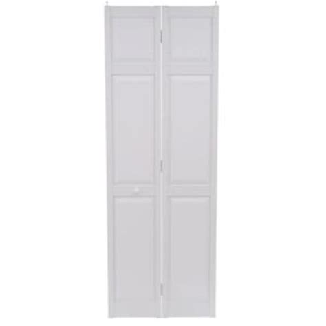 Bifold Closet Doors 28 X 80 Home Fashion Technologies 28 In X 80 In 6 Panel White Composite Interior Bi Fold Door