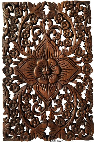 wood wall decor lotus flower home decor decorative wall pane asiana home decor
