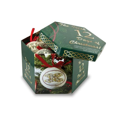 12 days of christmas ornament set keepsake box irish