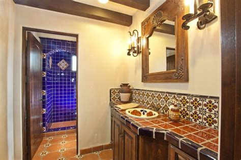 Mexican Tile Bathroom Ideas Talavera Tile For Mexican Bathroom Design Within Mexican Tile Designs Ward Log Homes