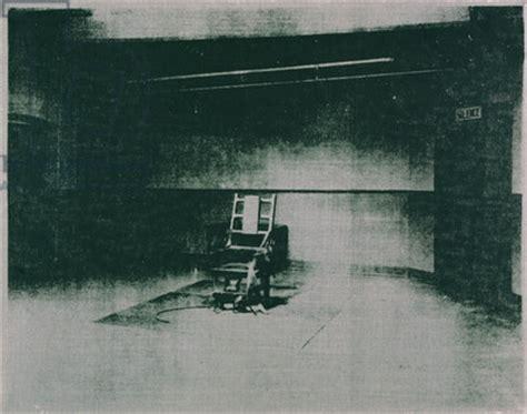 sedia elettrica andy warhol dieci quadri ti faranno venire gli incubi foto 3 di