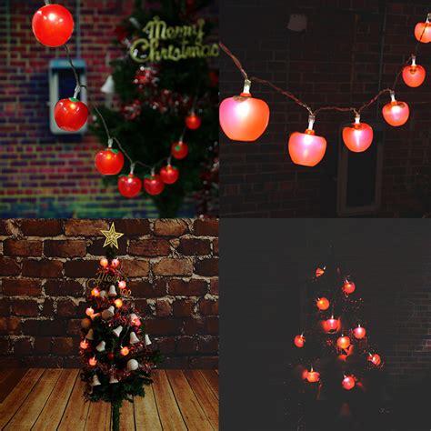 10 Led Battery Power Apple Shaped Christmas Garden Fairy Apple String Lights