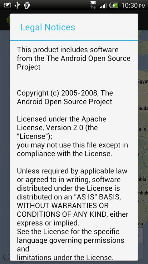 android license android er include open source software license information notices in your app using