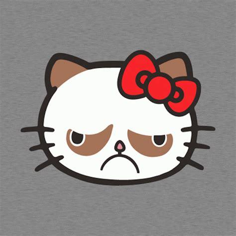 Hello Kitty Meme - hello grumpy a t shirt design that joins grumpy cat