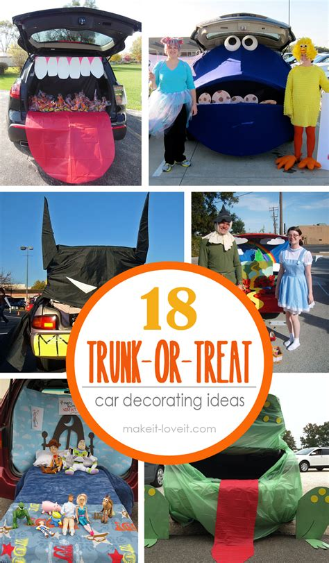 treat ideas 18 trunk or treat car decorating ideas make it and it