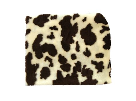 Cow Fur Animal Fur Fabric Brown Cow By The Metre Ebay