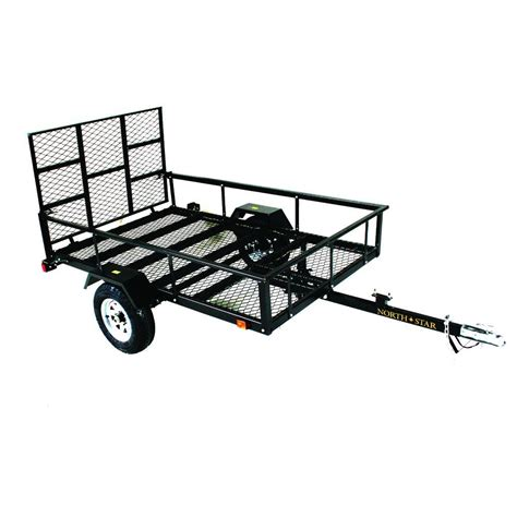 outdoor ls home depot load star atv trailer kit 5 ft x 8 ft atv with rear