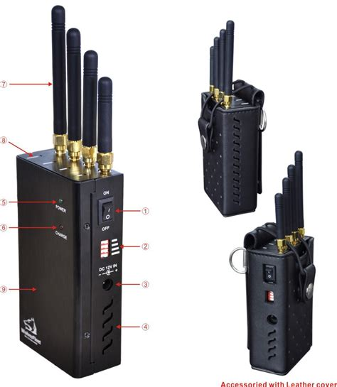Wifi Jammer High Power Handheld Cellular Phone Wi Fi Signal Jammer