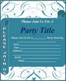Template For Invitation by Invitation Templates Free Word S Templates
