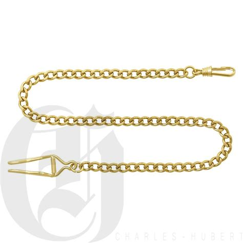 gold plated pocket chain