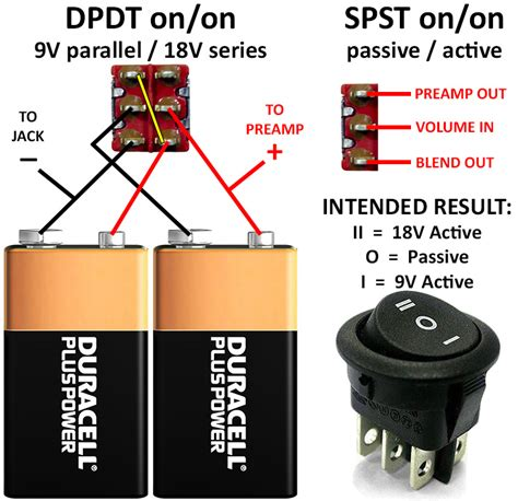 wiring for a quot passive 9v 18v quot all in one switch