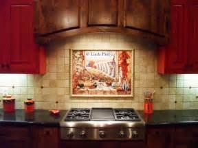Chili pepper kitchen backsplash tile mural by artist linda paul