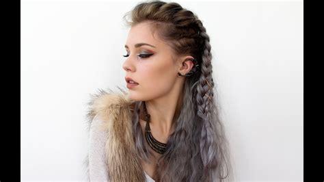 vikings lagertha inspired hair tutorial youtube