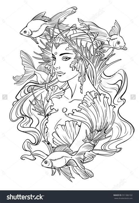 Mermaid Coloring Pages For Adults by 258 Best Images About Mermaid Coloring Pages For Adults On