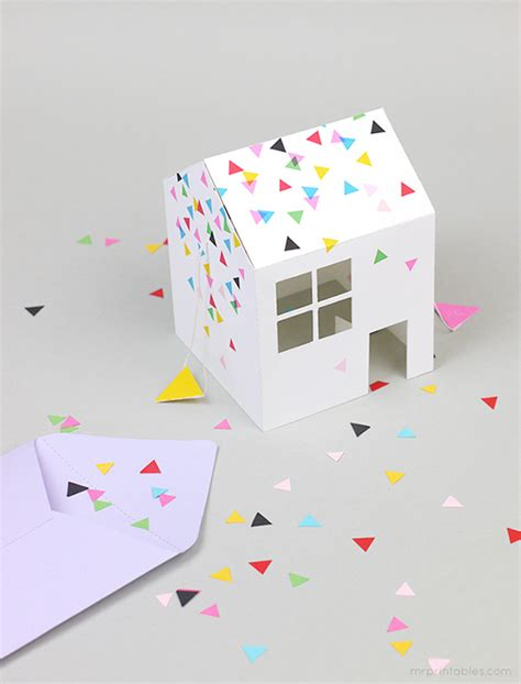 pop up homes pop up house party invitation mr printables