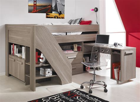 boys bunk bed with desk lively colorful boys room space saving bunk bed designs