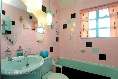 turquoise and pink bathroom fabulous pre war london bungalow with atomic themed