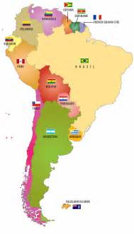 south america america and maps on
