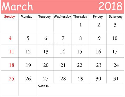 Free Calendar Printable Template by March 2018 Monthly Calendar Printable Templates