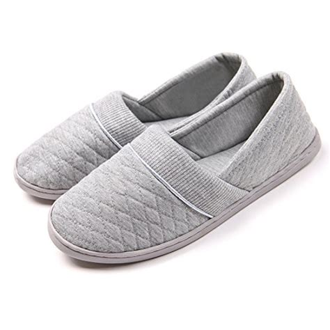 slipper house shoes chicnchic women comfort cotton soft sole indoor slippers anti slip house shoes grey 8 b m us