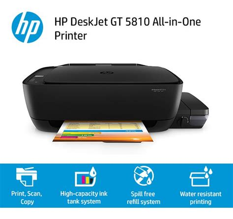 Printer Hp Gt hp deskjet gt 5810 all in one ink printer black buy hp deskjet gt 5810 all in one ink