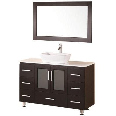 design elements vanity home depot design element stanton 48 in w x 20 in d vanity in espresso with composite vanity top