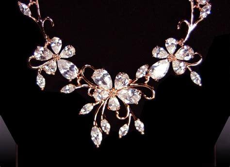 Dress Flower Blossom Set 1 gold bridal jewelry set wedding jewelry set