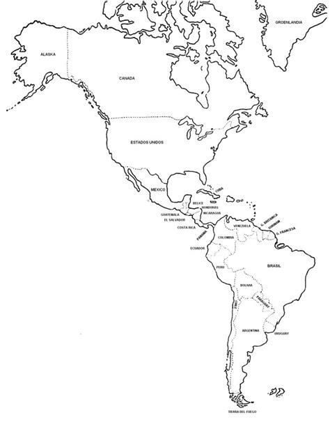 america mapa nombres mapas de america con nombres imagui