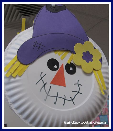 Paper Plate Scarecrow Craft - www rainbowswithinreach
