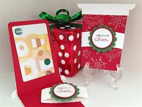 Starbucks Gift Card Not Working - simply simple starbucks gift card holder by connie stewart youtube