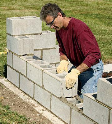 building  concrete wall tipsideasdiy concrete block