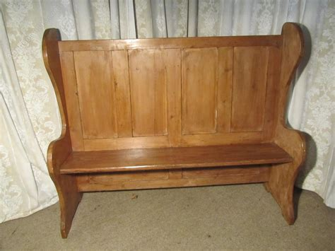 pine settle bench for sale 19th c high back pine settle fireside pub bench antiques