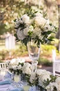 centerpieces with hydrangeas glass centerpieces with lush hydrangea arrangements