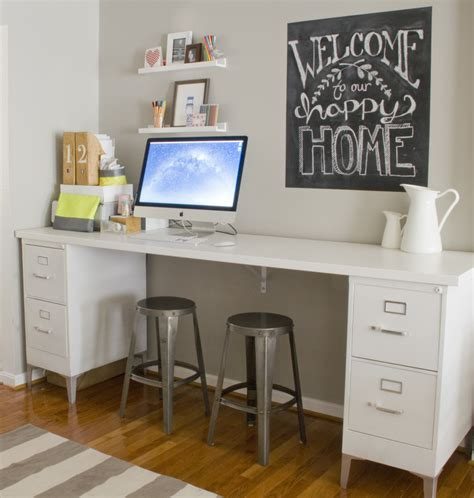 office desk with filing cabinet like the desk file cabinets with a board