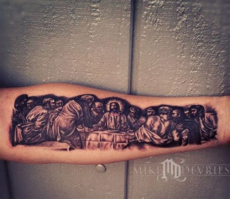 the last supper tattoo the last supper by mike devries tattoos