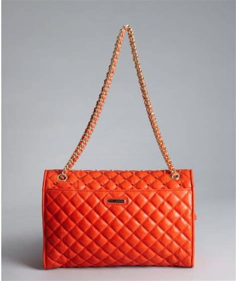 Minkoff Large Quilted Affair by Minkoff Persimmon Quilted Leather Large Affair