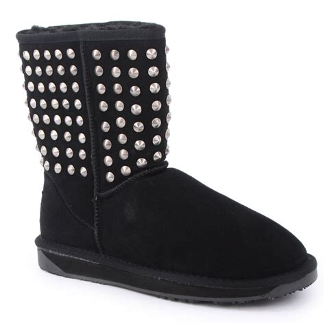 boo roo bliss studs womens boots in black