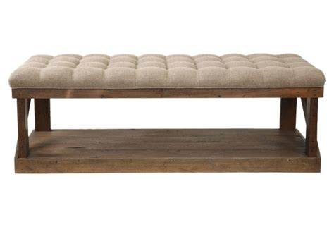 king s bench wilmington 50 quot tufted bench oatmeal from one kings lane