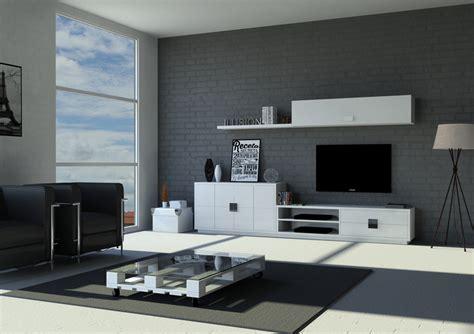 mueble salon minimalista sal 243 n minimalista de original dise 241 o en blanco y acero
