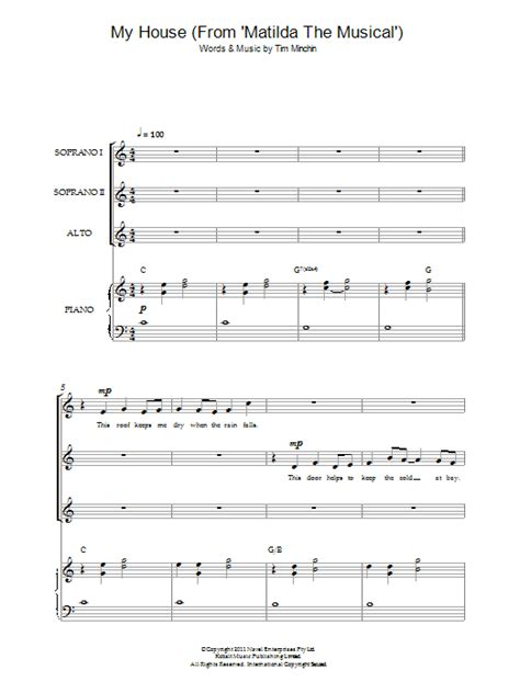 my house matilda lyrics tim minchin my house from matilda the musical sheet music at stanton s sheet music