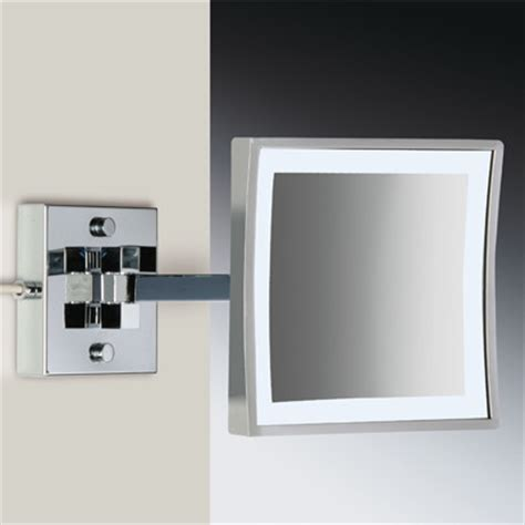 magnified bathroom mirrors wall mounted led lighted magnifying mirror modern
