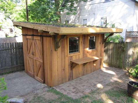 green roof garden shed eclectic granny flat  shed