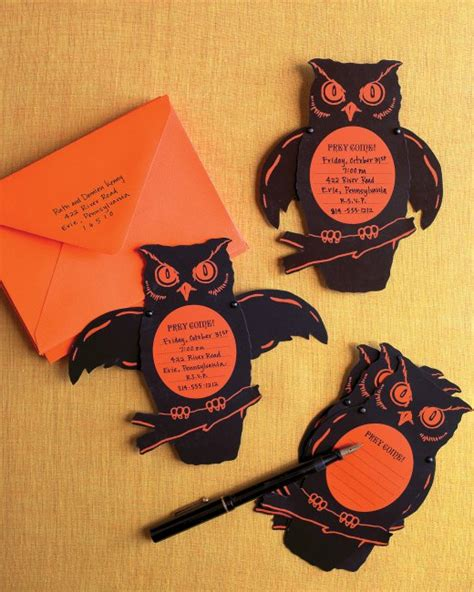 owl invitations martha stewart